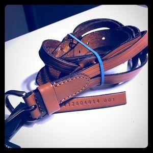 Ralph Lauren Women Tan Oscillated Belt